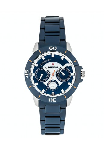 Expedition navy Expedition Jam Tangan - Blue Silver - Stainless Steel - 6758 BFBTUBU F9557AC90CEB7CGS_1