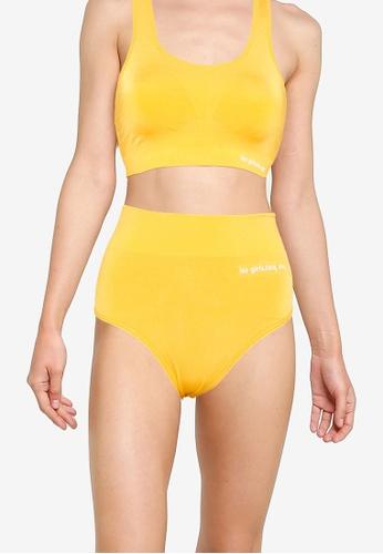 Les Girls Les Boys yellow Seamless Sport Brief 92F6BUS400B3A3GS_1