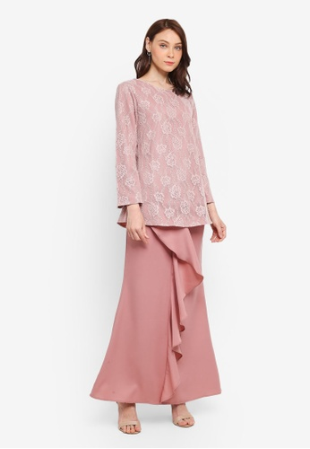 BYN pink Kurung Modern B706DAA683F78EGS_1