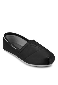 Faux Leather Slip-Ons