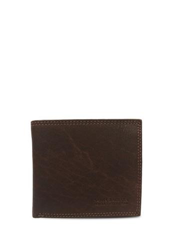 Santa Barbara Polo & Racquet brown Santa Barbara Polo & Racquet Club Leather Bifold Wallet SA678AC0H39YSG_1
