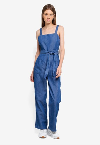 Cotton On blue Pinafore Jumpsuit 32BDFAA87EA71BGS_1