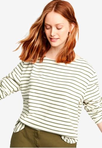 cd3721b3ff5 Shop Violeta by MANGO Plus Size Striped Cotton T-Shirt Online on ZALORA  Philippines