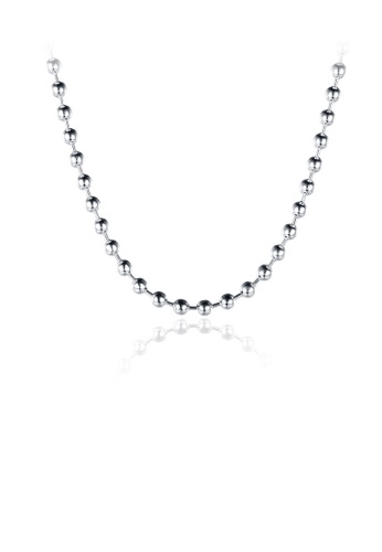 Glamorousky silver Simple and Fashion 3MM Round Bead Necklace BD607AC4281D4AGS_1