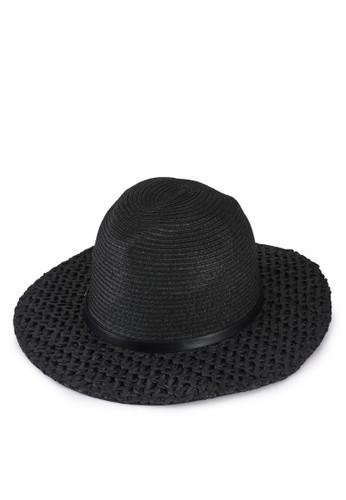 ONLY black Malibu Paper Straw Hat BDEDAAC36A888BGS_1
