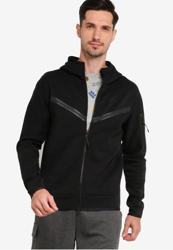 Nike black Tech Fleece Full-Zip Hoodie WR 8F5D5AA5CFF58FGS_1