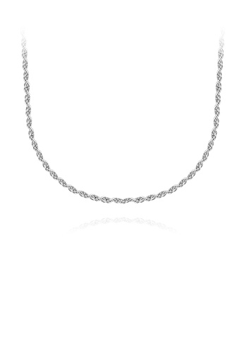 Glamorousky silver Fashion Simple 316L Stainless Steel Necklace 45cm 675A2AC5BC5AC7GS_1