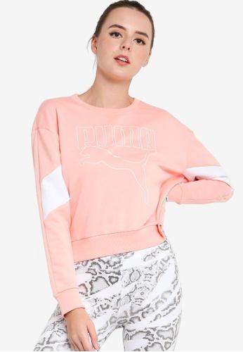 PUMA 粉紅色 Rebel 圓領Women's Sweater 9986EAAB7D2403GS_1