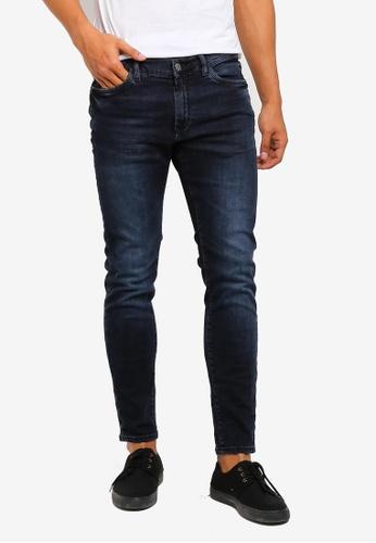 MANGO Man 藍色 緊身牛仔褲 A1F6CAA0835465GS_1