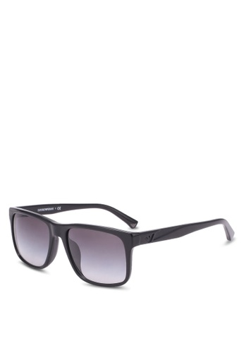 Emporio Armani black Essential Leisure EA4071F Sunglasses EM212GL0SEXRMY_1