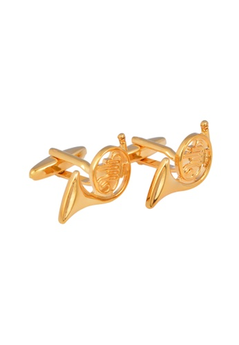 Kings Collection gold French Horn Cufflinks (KC20349) 8CCC3ACD8D7B2AGS_1