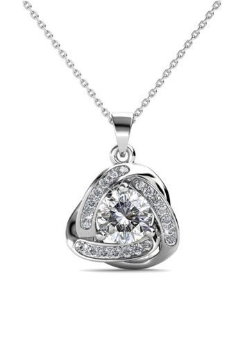 Her Jewellery silver Swarovski® Crystals - Galaxy Pendant (18K White Gold Plated) Her Jewellery  HE581AC0RDOKMY_1