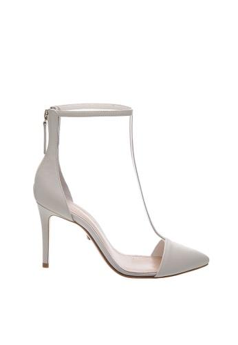 SCHUTZ white SCHUTZ PVC Ankle Heel - CLARICE (TRANSPAREN TE/WHITE) 52FD8SH561D901GS_1