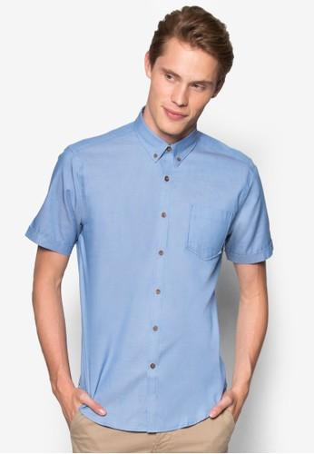 印花貼身休閒短袖襯衫,esprit 旺角 服飾, 襯衫
