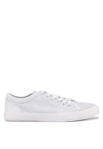 Topman white White Canvas Swiss Geo Print Trainers 47D4DSHE8E1298GS_1