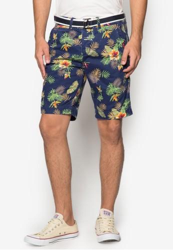 熱帶風斜布短褲, 服飾, 服zalora 台灣門市飾