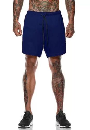 Twenty Eight Shoes navy VANSA  Casual Double Layer Sports Shorts VCM-St063 C0F71AAD45DE34GS_1