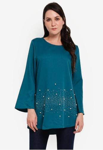 BYN green Muslimah Blouse 0630BAA32A43D5GS_1