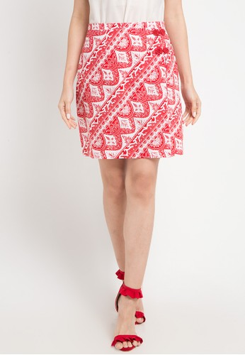 Bateeq red and multi Regular Skirt D8C6AAA04F7A47GS_1