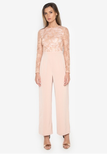 NOBASIC pink Applicated Elegant Jumpsuit 8DEA4AA797C488GS_1