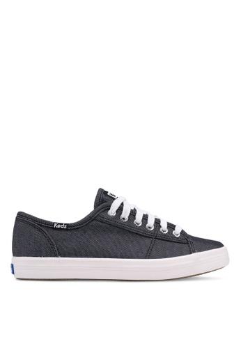 Keds black Kickstart Shimmer Chambray Sneakers B522ESH862DDB6GS_1