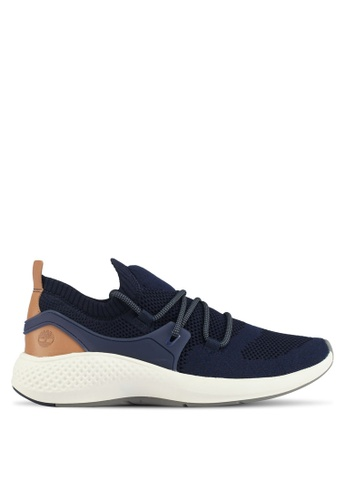 Timberland navy Flyroam Go Knit Oxford Sneakers 6075DSHEE1BDC4GS_1