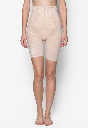 Impression beige Tummy & Thigh Strong-Control Shapewear IM021US02DEVSG_1
