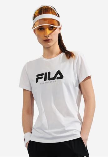 FILA white Athletics Collection FILA Logo T-shirt 38F88AA2FAA876GS_1