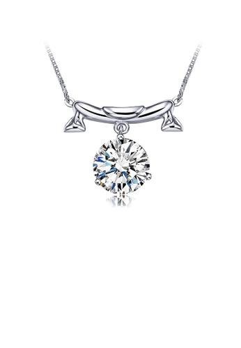 Glamorousky white 925 Sterling Silver Twelve Horoscope Libra Necklace with White Cubic Zircon 1EDB6ACF13B1C8GS_1