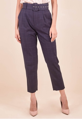 Dressing Paula Belted High-Rise Crepe Tapered Pants 26A14AA841CF70GS_1
