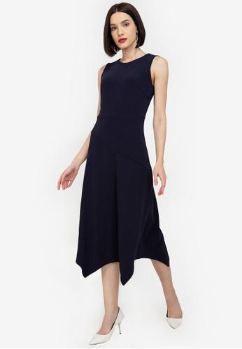 ZALORA WORK navy Handkerchief Hem Dress 1743DAA1492799GS_1