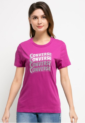 Converse purple Metallic Wave Classic Tee B088FAAA9BA3ACGS_1