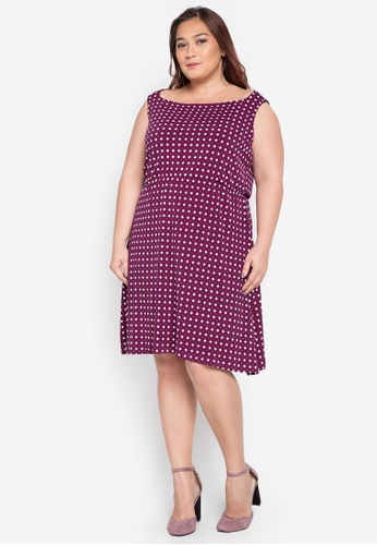 Hint purple Plus Size Sleeveless Printed Dress HI373AA0JT43PH_1