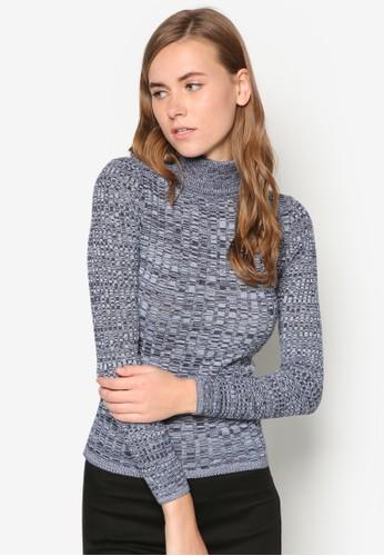 zalora 內衣Rib Roll-Neck Jumper, 服飾, 毛衣& 針織外套