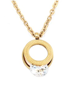 Gem and Rose Gold Plated Necklace