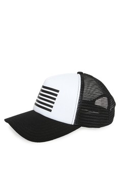 Tendencies black Tendencies Hats LOGO FLAG TRUCKER 674B6AC4A74E0FGS 1 263e2bedd3