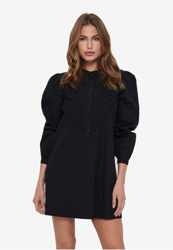 JACQUELINE DE YONG black Mumbai Life Long Sleeve Dress 42498AAFD4ECC3GS_1
