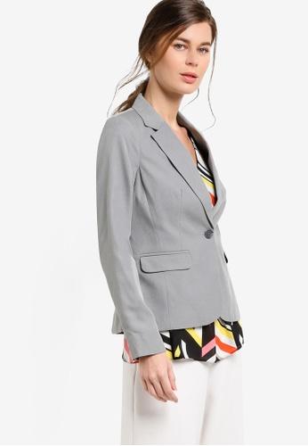 Dorothy Perkins grey Grey Suit Jacket DO816AA09UVEMY_1