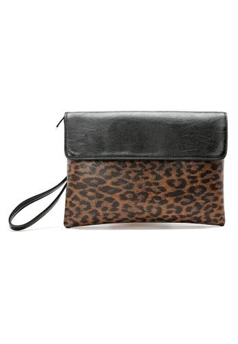 Lara multi Men Back Zipper Pocket Hand Bag - Leopard 5BB5AACCEED196GS_1
