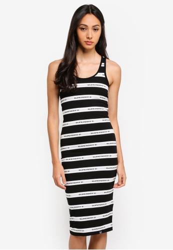 e279cc0a23d1 Shop Superdry Mila Stripe Midi Dress Online on ZALORA Philippines
