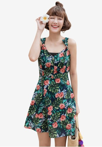 Tokichoi navy Tropical Floral Tie Strap Dress 7C2EBAA31168A6GS_1