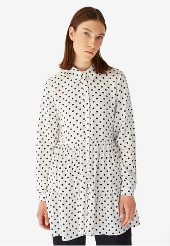 Trendyol white Polka Dot Tunic 00A87AA8F3F989GS_1