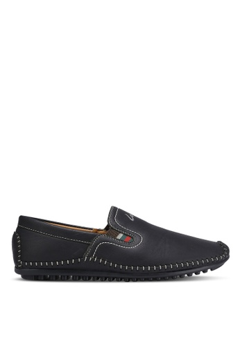 Louis Cuppers black Classic Slip Ons LO977SH0RJGLMY_1