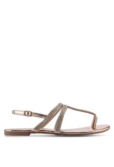 d3dc12a83b Dorothy Perkins Rose Gold Faraway T-Bar Sandals E7C9ESH2529F75GS_1