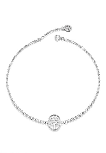 925 Signature silver 925 SIGNATURE Solid 925 Sterling Silver Tree Of Life Charm Bracelet 41014ACF0B2E85GS_1