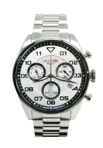 Buler silver Buler Sport Watch - Silver - Gents - Date - 6H BU689AC2VG1HHK_1