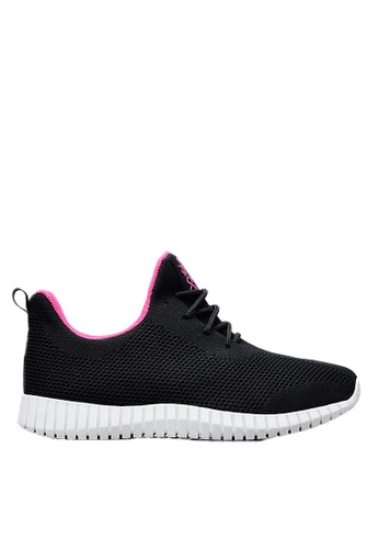 Life8 black iStarKu X MRJ Co-Branded Elastic Sporty Shoes With double shoelaces -09701-Black LI283SH0FVA4SG_1