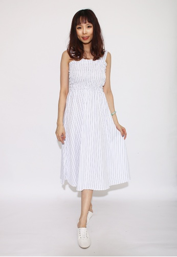 Seoul in Love white and blue Aeos Dress in White 78398AA634E09BGS_1
