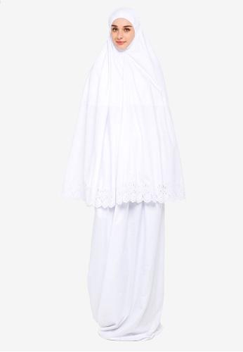 Amar Amran white Telekung Marwah 72BC4AA16AF4E5GS_1