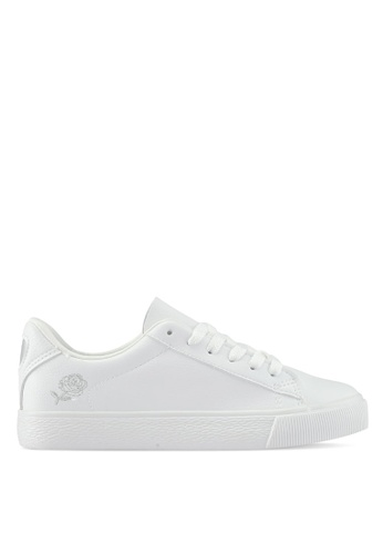 Twenty Eight Shoes white Simple Floral Embroidery Sneakers B669BSH4253663GS_1